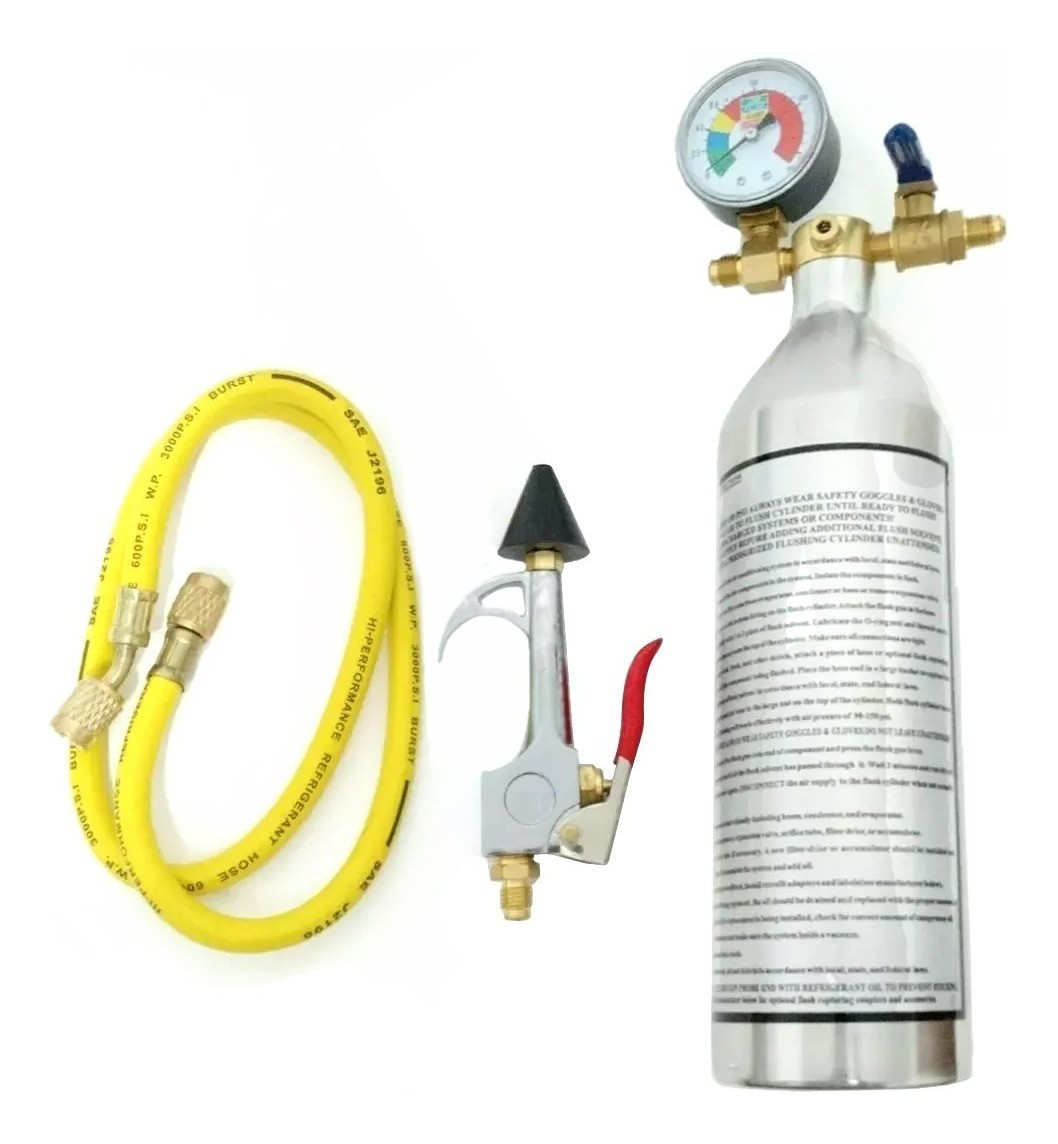 Kit Flushing Para Limpeza de Sistema Com Manômetro