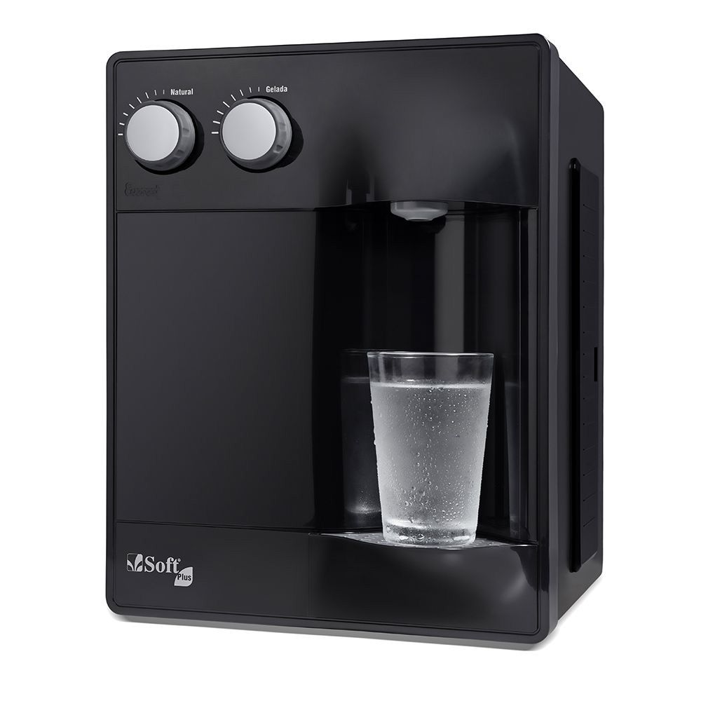 Purificador de Água Soft Plus Preto - 30 pessoas - Empresa