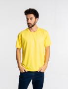5 Camisetas malha fria PV  AMARELO CANÁRIO adulto