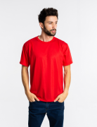 5 camisetas malha fria PV VERMELHO adulto