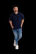 Camisa Pólo Masculina manga curta sem bolso AZUL MARINHO