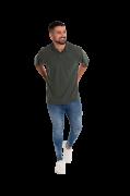 Camisa polo masculina manga curta sem bolso CHUMBO