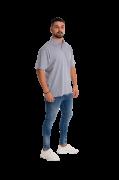 Camisa Pólo Masculina manga curta sem bolso MESCLA
