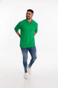 Camisa Pólo Masculina manga curta sem bolso VERDE BANDEIRA