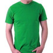 Camiseta adulto manga curta fio 30/1 100% algodão VERDE BANDEIRA