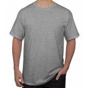 Camiseta adulto manga curta fio 30/1 100% algodão CINZA MESCLA