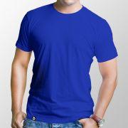Camiseta adulto manga curta fio 30/1 100% algodão AZUL ROYAL