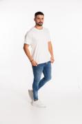 Camiseta masculina fio 30/1 algodão BRANCO adulto
