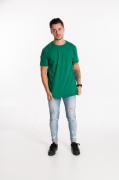 Camiseta masculina fio 30/1 algodão VERDE BANDEIRA adulto
