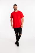 Camiseta masculina fio 30/1 algodão VERMELHO adulto