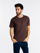 Camiseta masculina malha fria PV MARROM