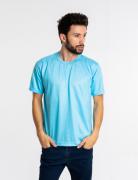 Camiseta masculina malha fria PV TURQUESA adulto