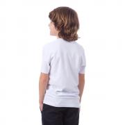 Camiseta infantil manga curta 100% poliéster PP BRANCO