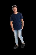 Camiseta masculina fio 30/1 algodão AZUL MARINHO adulto