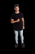 Camiseta masculina longline oversized swag preto