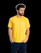 Camiseta masculina malha fria PV AMARELO OURO