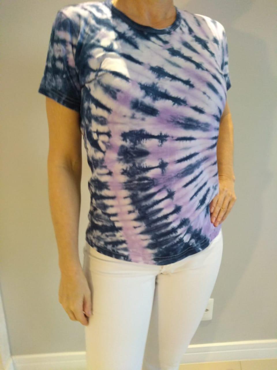 Blusa Feminina Estampas Tie Dye Sortidas