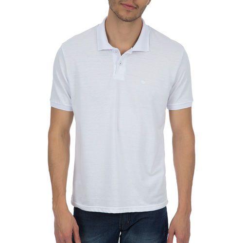 Camisa polo masculina manga curta sem bolso BRANCO