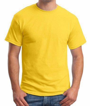 Camiseta adulto manga curta fio 30/1 100% algodão AMARELO CANARIO