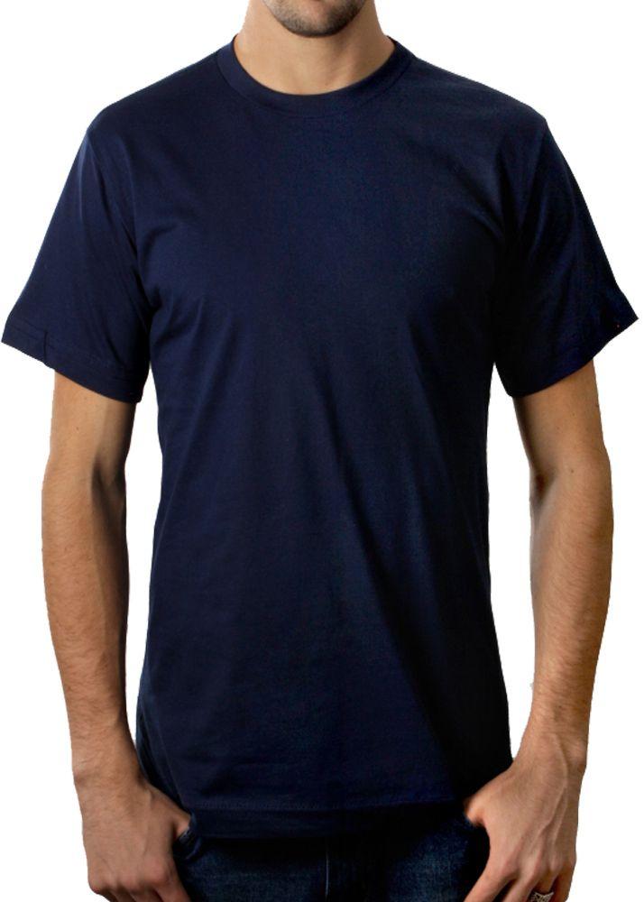 Camiseta adulto manga curta fio 30/1 100% algodão AZUL MARINHO