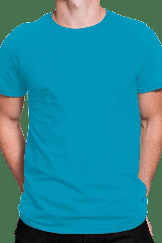 Camiseta adulto manga curta fio 30/1 100% algodão TURQUESA