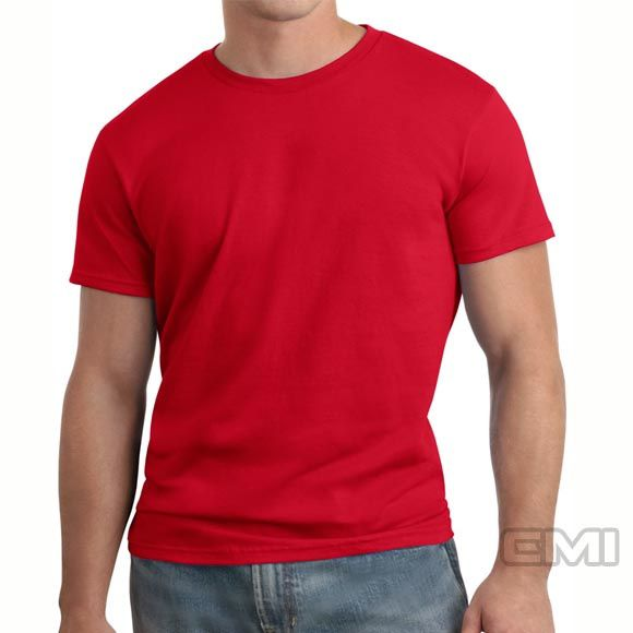 Camiseta adulto manga curta fio 30/1 100% algodão VERMELHO