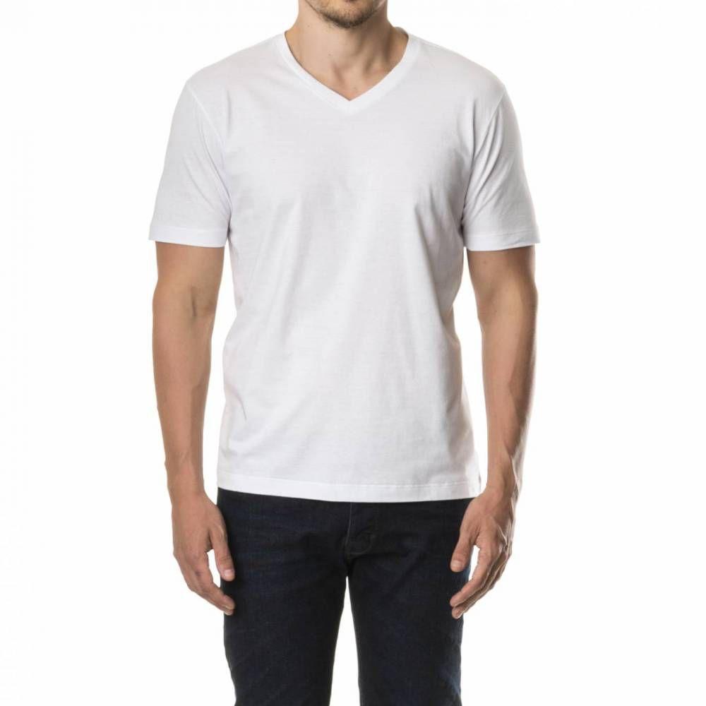 Camiseta adulto manga curta gola V 100% poliéster PP