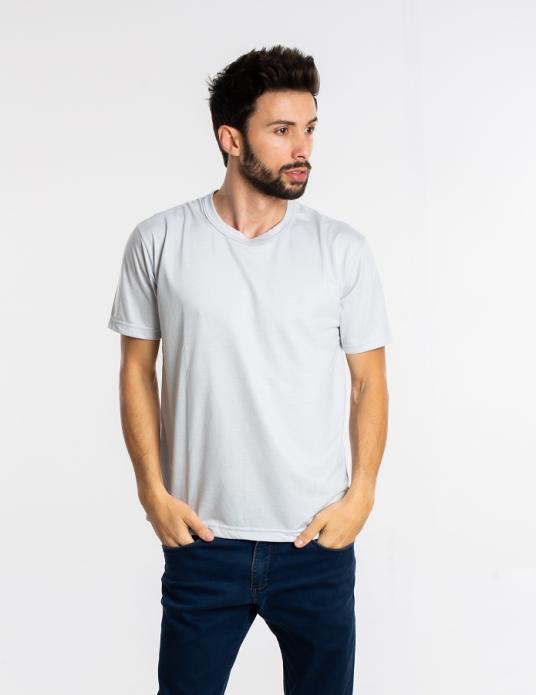Camiseta adulto manga curta PV CINZA CLARO