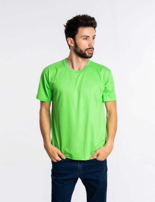 Camiseta malha fria PV VERDE LIMÃO adulto