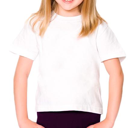 Camiseta infantil manga curta 30/1 BRANCO