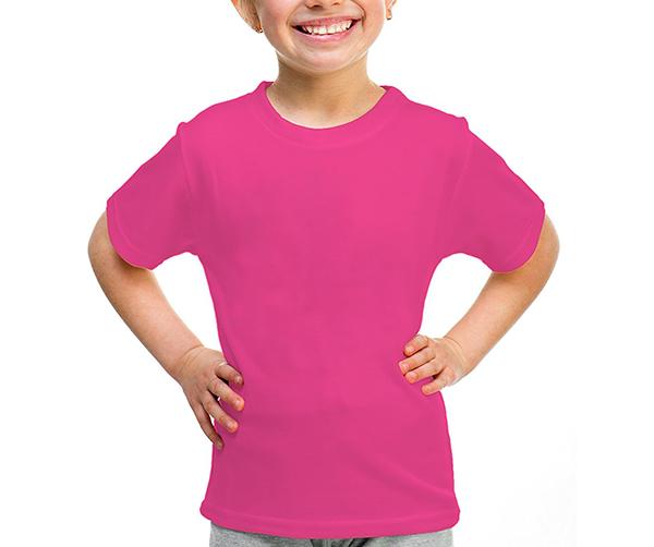 Camiseta infantil manga curta 30/1 PINK