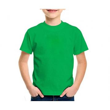 Camiseta infantil manga curta 30/1 VERDE BANDEIRA