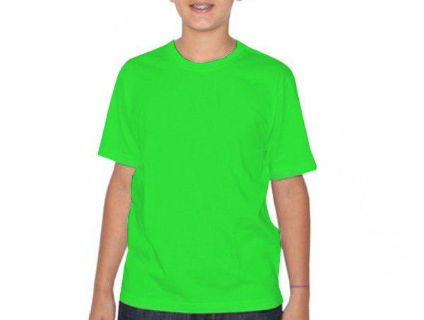 Camiseta infantil manga curta PV VERDE LIMÃO