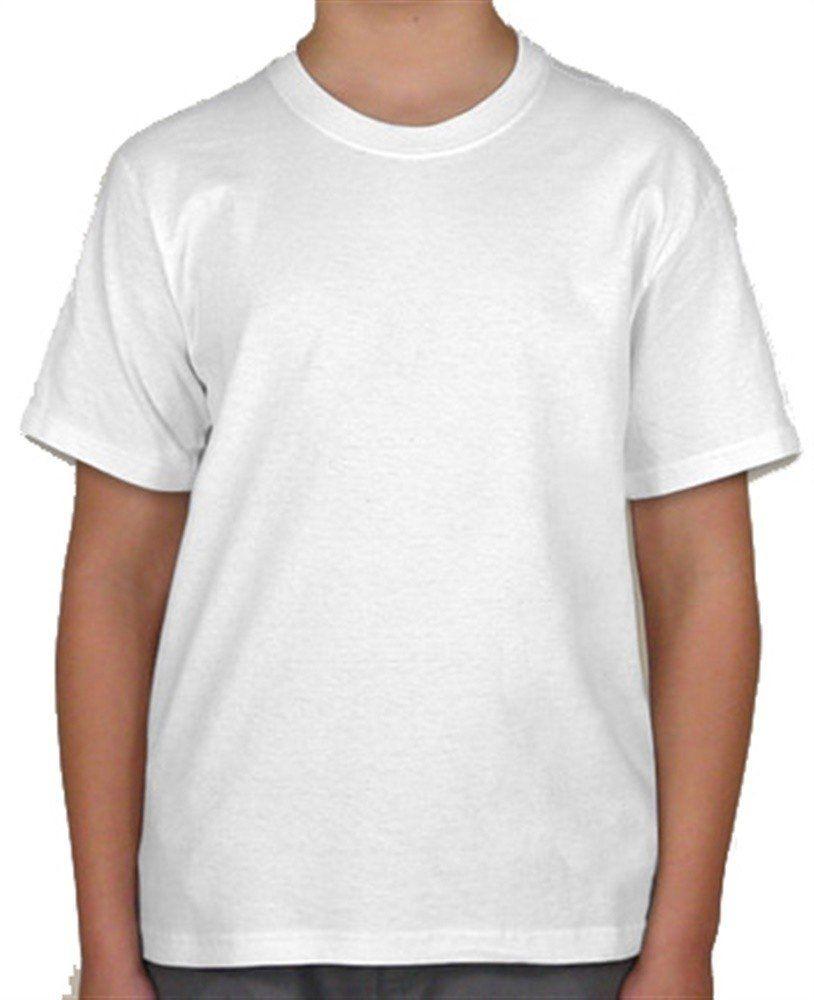 Camiseta juvenil manga curta 30/1 BRANCO