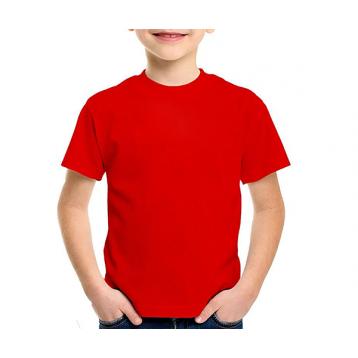 Camiseta juvenil manga curta 30/1 VERMELHO