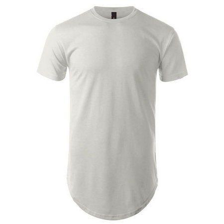 Camiseta masculina longline oversized swag branca