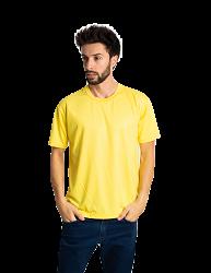 Camiseta masculina malha fria PV AMARELO CANARIO