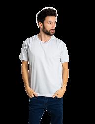 Camiseta masculina malha fria PV CINZA CLARO
