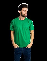 Camiseta masculina malha fria  PV VERDE BANDEIRA adulto