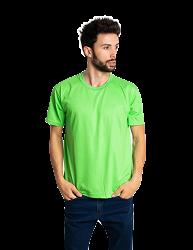 Camiseta masculina malha fria PV VERDE LIMÃO adulto