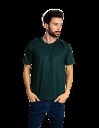 Camiseta masculina malha fria PV VERDE MUSGO adulto