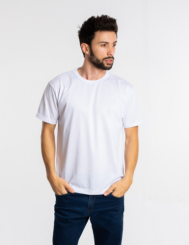 Kit 5 camisetas malha fria PV BRANCAS adulto