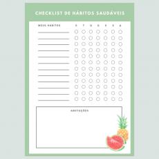 Checklist Hábitos Saudáveis - Coleção Dia de Feira