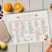 Lista de Compras Alimentos Saudáveis - Coleção Amo Ser Nutricionista
