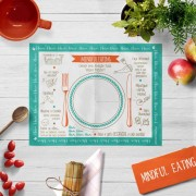 Mindful Eating  BLUE - Placa Rígida em P.S