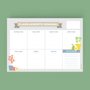 Planejamento Semanal e Mensal - Linha Consultório