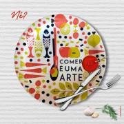 Prato Porcelana - Comer é uma Arte
