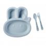 Prato Infantil Azul - Fibra de Trigo