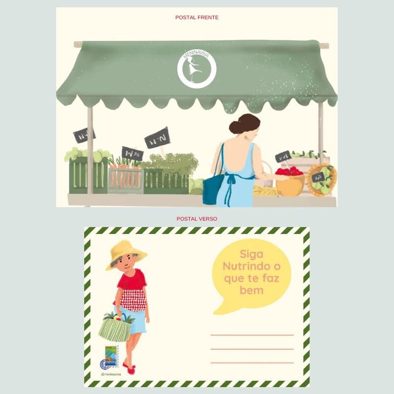 Cartão Postal - Coleção Dia de Feira
