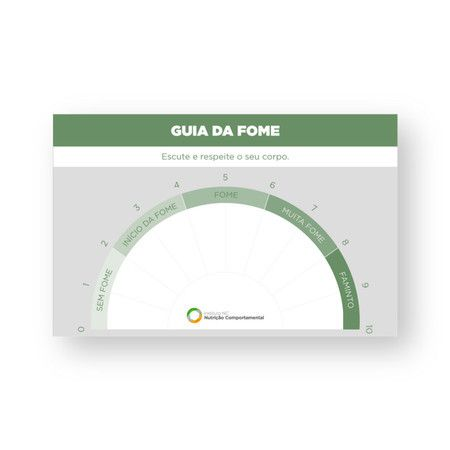 Fome e Saciedade (Cards Rígidos) - Parceria NC